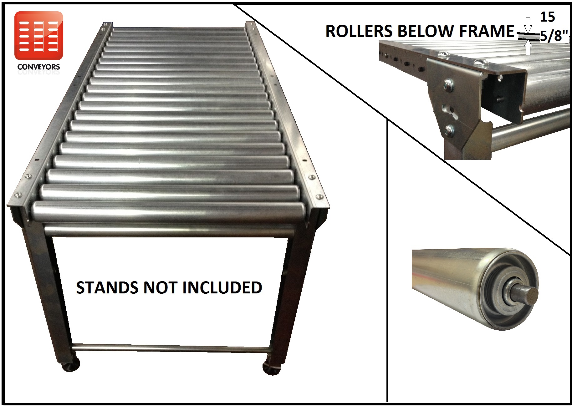 Conveyor Rollers | Conveyors For Sale - AED Rollers