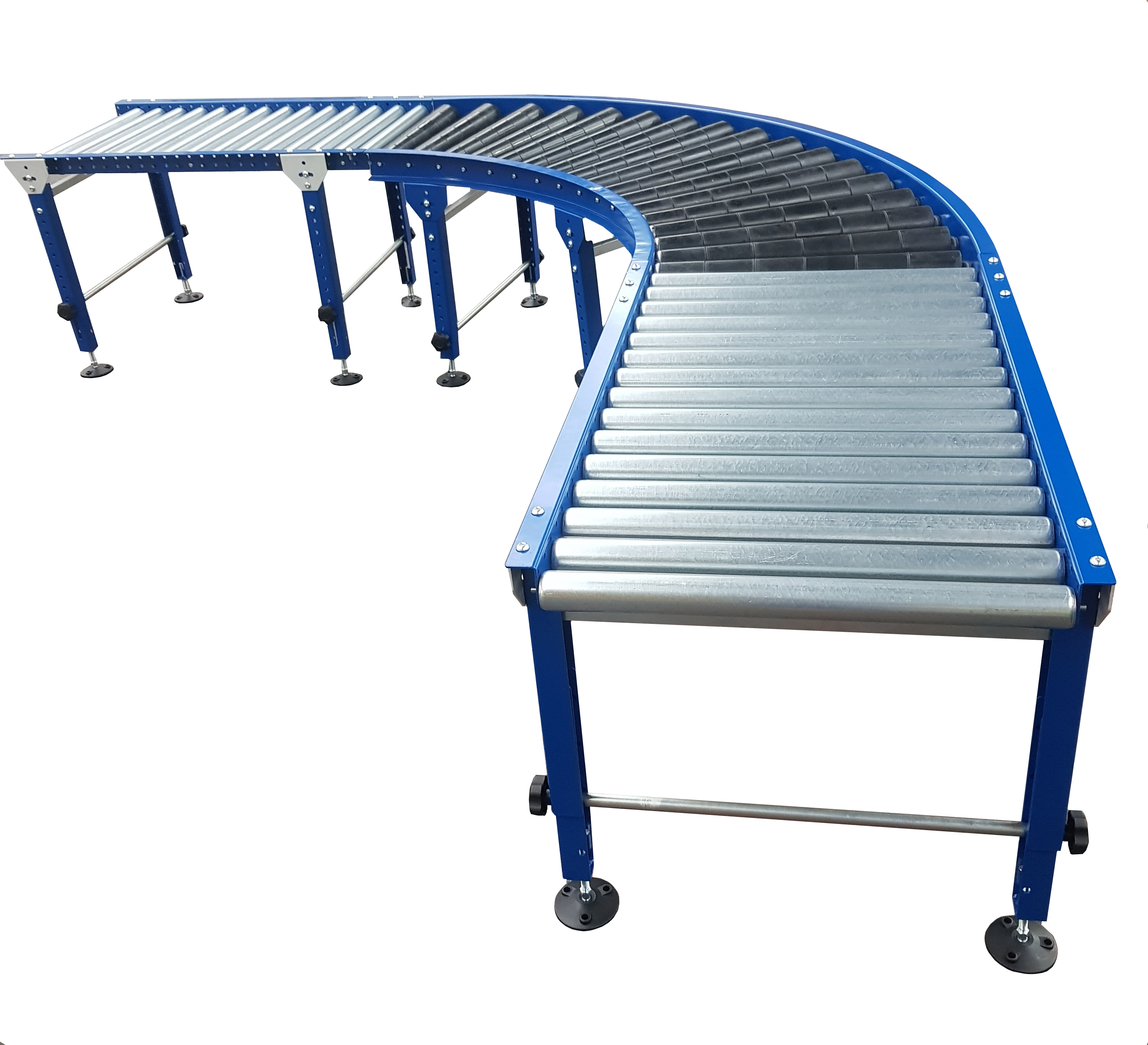 conveyor gravity bend or roller curve