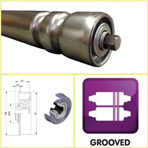 Grooved, Stainless & BZP GRP Rollers